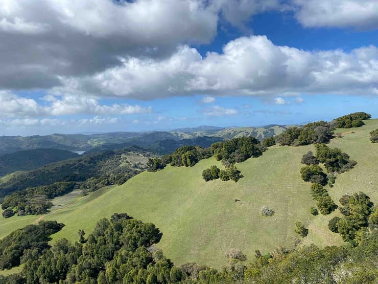 Hiking in California: beautiful view of Mt Diablo from Olompali State Park