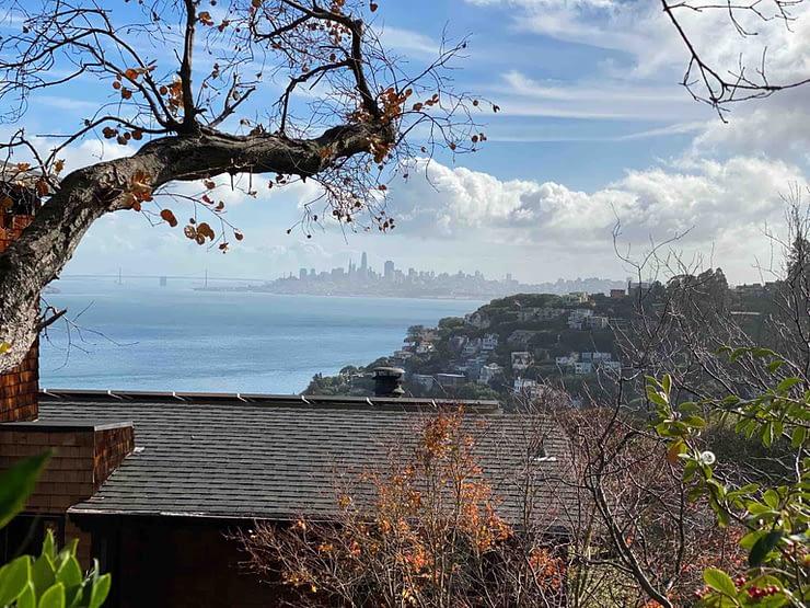 Sausalito walk - fog city view