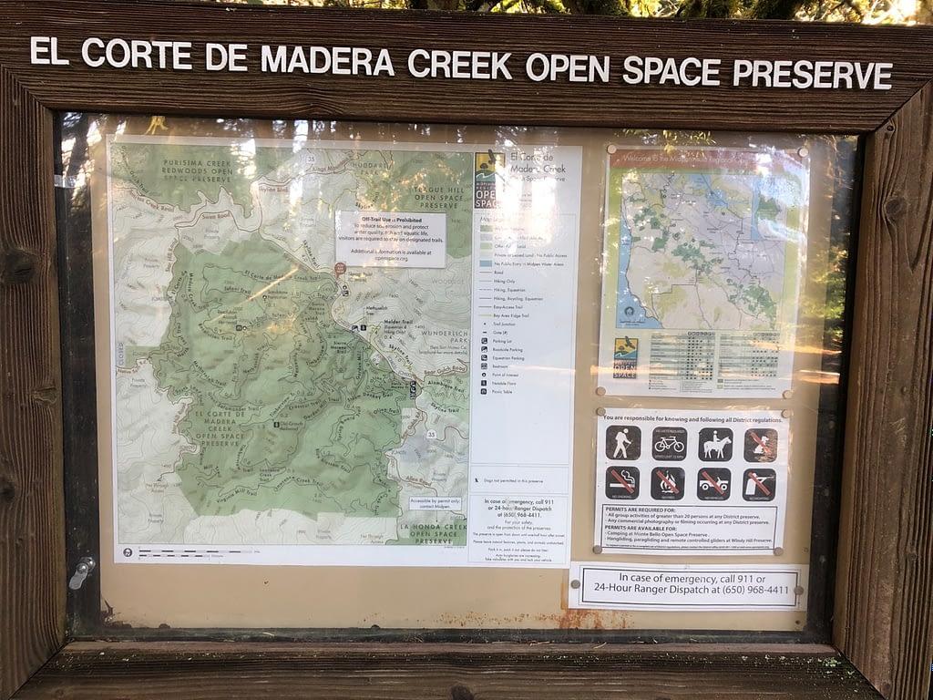 El Corte De Madera parc entrance information and map