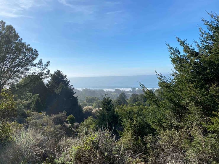 Wonderful view from the top of Mount Tamalapis during a California hike