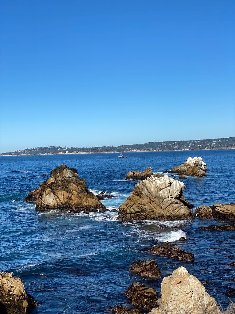 Rocks and sea view at Point Lobos